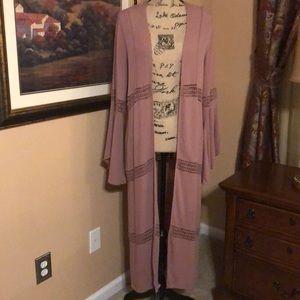 Forever 21 blush/rose kimono, size M